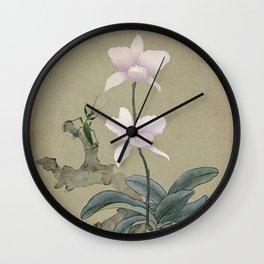 Orchid and Mantis Wall Clock