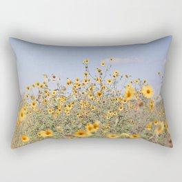 Texas Sunflower Field Rectangular Pillow