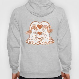 Valentine Cupids with Hearts Hoody