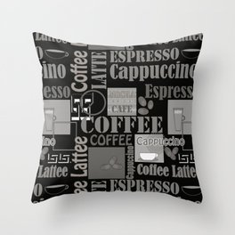 Abstract pattern . Coffee . Throw Pillow