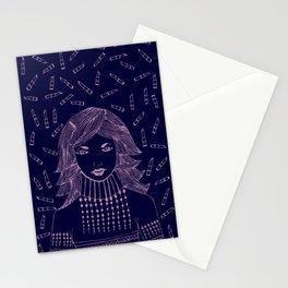"My 'LIP STICKS' to whisper ""I Love You"". Stationery Cards"