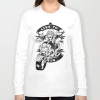 moto Long Sleeve T-shirts featuring Moto Demons by PRIMATE