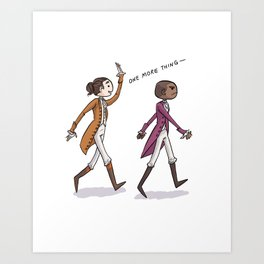 Non-Stop Aaron Burr and A.Ham Musical Merchandise Art Print