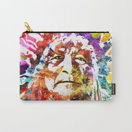 Native American Grunge Watercolor Carry-All Pouch