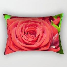Red big Rose Rectangular Pillow