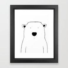 No. 0046 - Modern Kids and Nursery Art - The Polar Bear Framed Art Print