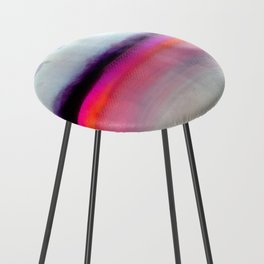 Pink Silver Counter Stool