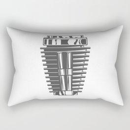 Motorcycle engine cylinder in design fashion modern monochrome style illustration Rectangular Pillow