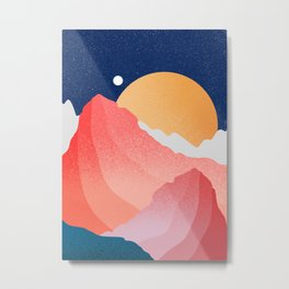 The hills of the planet Metal Print