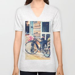 Life is Like Riding a Bicycle. Unisex V-Neck