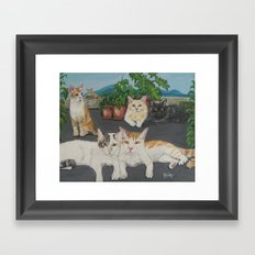 Lia's Cats Framed Art Print