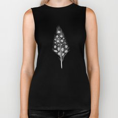 Polka Dotted Feather Biker Tank