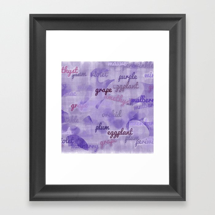 Synonyms Framed Art Print by lidflutters | Society6