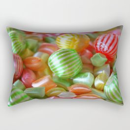 Multi-Colored Striped Candy Rectangular Pillow