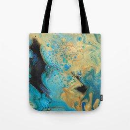 Fluid nature - Golden Sands -  Acrylic Pour Art Tote Bag