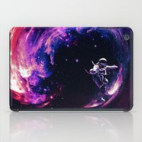 surfing iPad Cases featuring Space Surfing by nicebleed