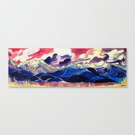 Good Evening Whistler Blackcomb Canvas Print