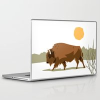 bison Laptop & iPad Skins featuring Bison by Emre Özbay