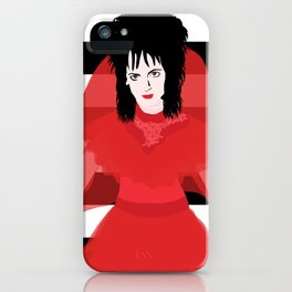Lydia in Red iPhone Case