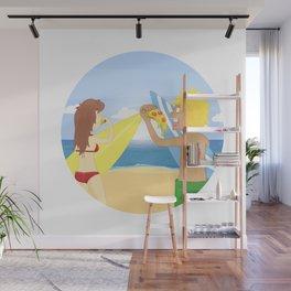 Beach 'n' Za Wall Mural