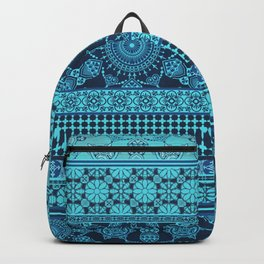 Ornate Moroccan in Blue Backpack