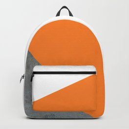Concrete Tangerine White Backpack