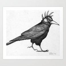 Corvus Punkus Art Print