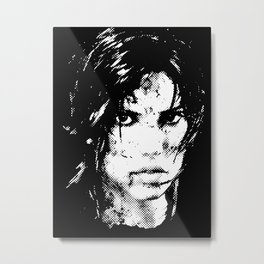 Lara Croft Tombraider Metal Print