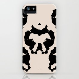 Rorschach inkblot iPhone Case