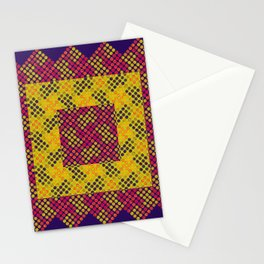 Dot Swatch Equivocated on Purple Stationery Cards