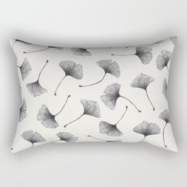 Ginkgo Leaves Cream Rectangular Pillow