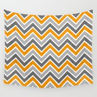 chevron Wall Tapestries featuring Chevron by eARTh