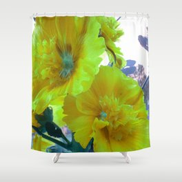 Hibiscus vintage lemon Shower Curtain