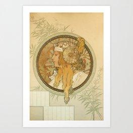 "Alphonse Mucha ""Byzantine Head: The Blonde"" Art Print"