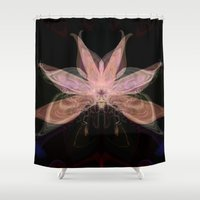 spawn Shower Curtains featuring Ethereal Flower by Stars Live Forever