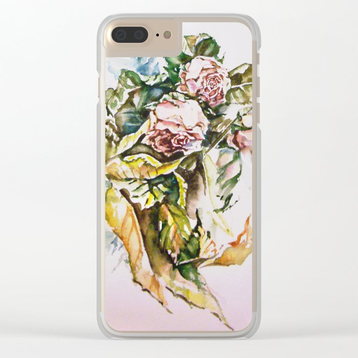 Rosal pastels Clear iPhone Case