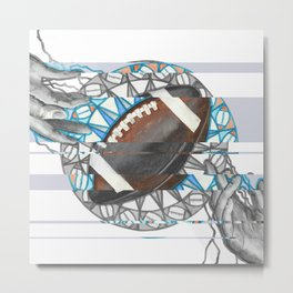The perfect pass / American football Metal Print