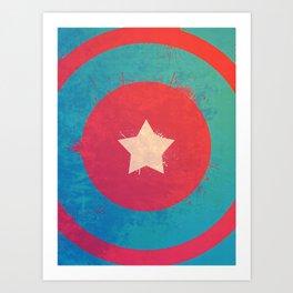Captain's Sheild! Art Print