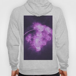Wi Fi sign. Wi-Fi symbol. Abstract night sky background Hoody