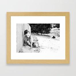 caleb Framed Art Print