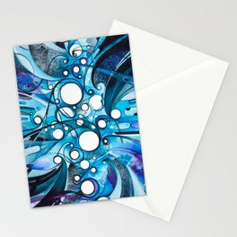 Medium Hadron Collider - Watercolor Painting Stationery Cards