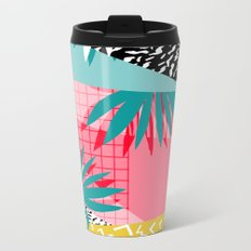 Bingo - throwback retro memphis neon tropical socal desert festival trendy hipster pattern pop art  Metal Travel Mug