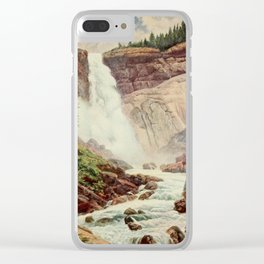 Bagg, Henry H. (1852-1928) - On Sunset Highways 1921 - Nevada Fall, Yosemite Clear iPhone Case