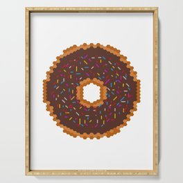 Chocolate Donut Serving Tray