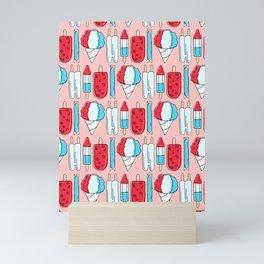Patriotic Popsicles (Red) Mini Art Print