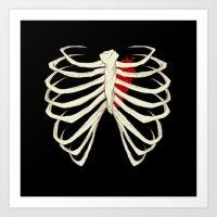 skeleton Art Prints featuring Skeleton by Abigail Larson