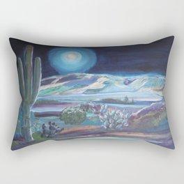 Four Peaks in the Moonlight Rectangular Pillow