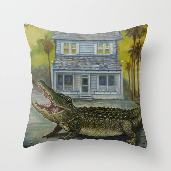 The Barker House Throw Pillow