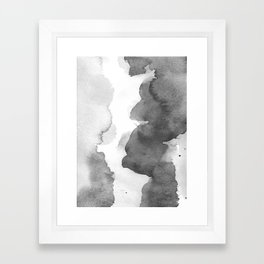 Charcoal (Watercolor blends) Framed Art Print