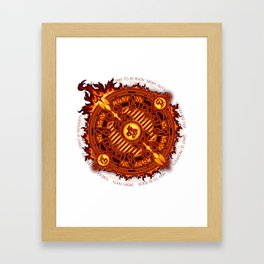 Ifrit Seal Framed Art Print